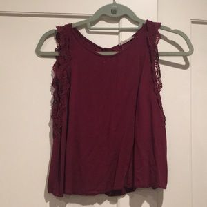 Cropped Tank w/Sleeve Detail - Lush from Nordstrom